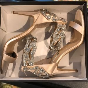 Beige and Crystal heel only worn once